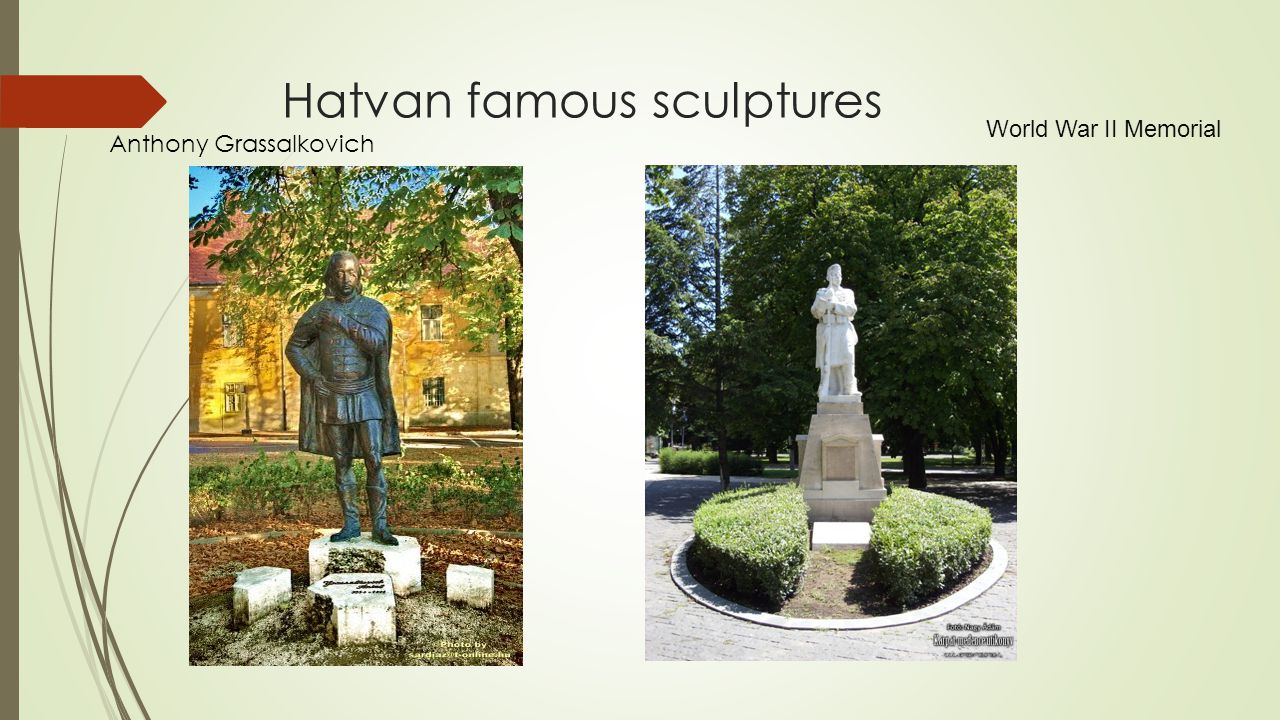 Hatvan famous sculptures Anthony Grassalkovich World War II Memorial