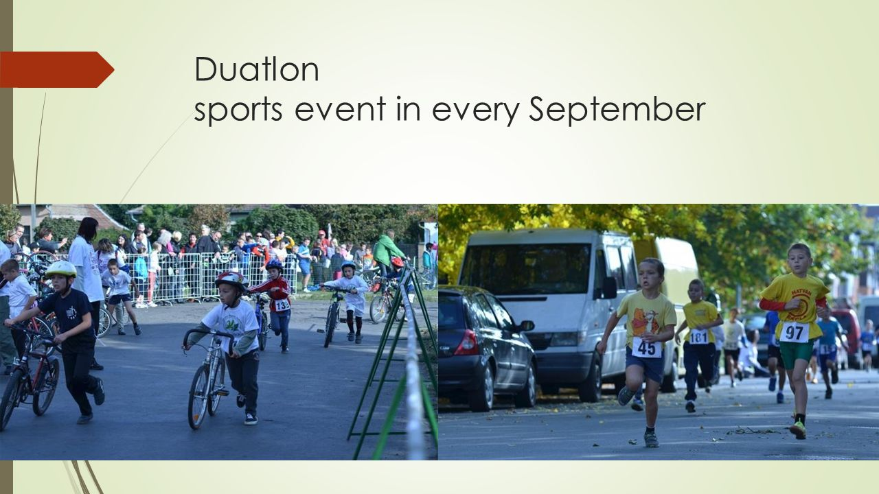 Duatlon sports event in every September