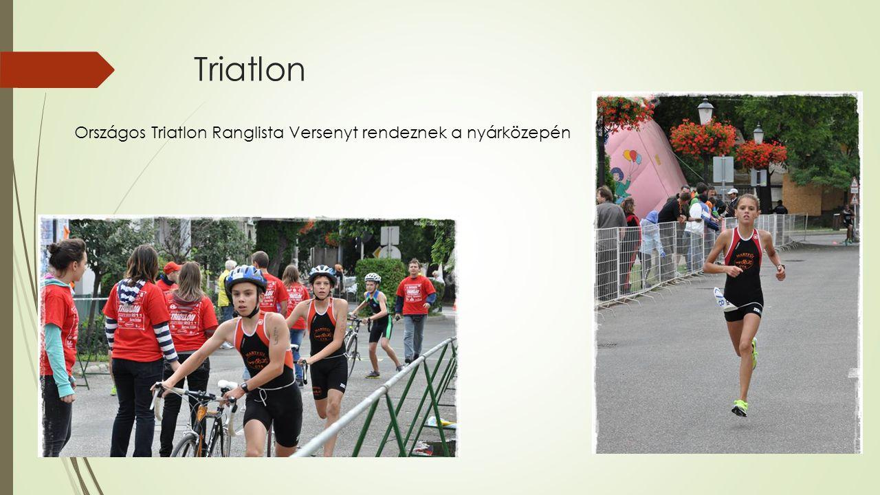 Triatlon Országos Triatlon Ranglista Versenyt rendeznek a nyárközepén