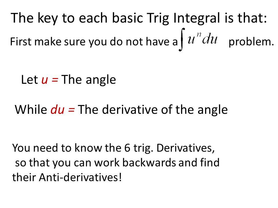 10 Basic Trig Integrals