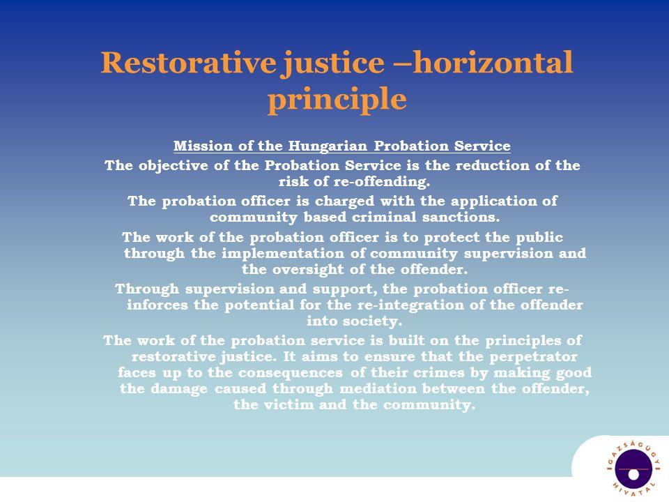 Direct practice Victim-Offender mediation Symbolic restitution Restorative approach