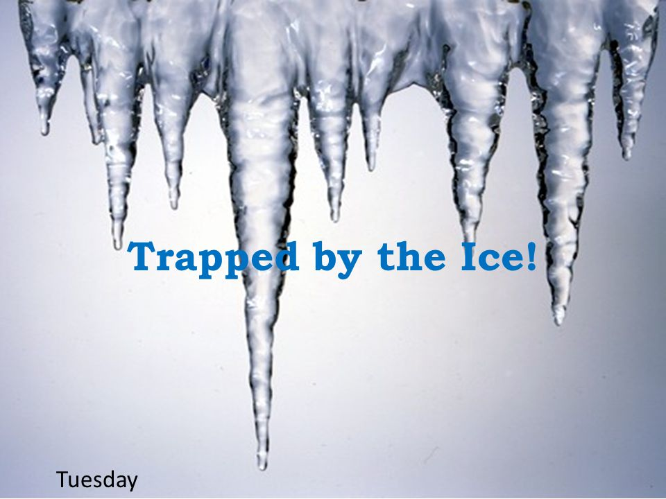 Trapped by the Ice! Tuesday