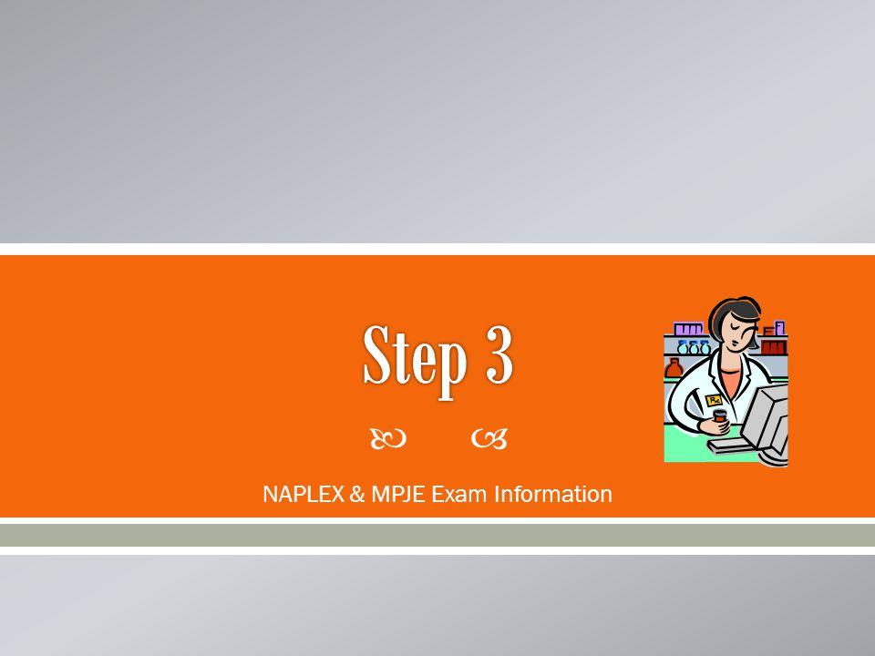 NAPLEX & MPJE Exam Information
