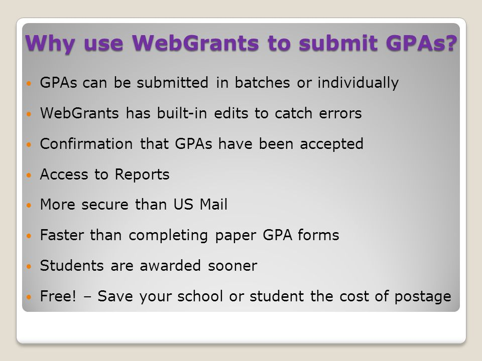 Step 1 of 3: Upload GPAs Screen First, click on 'Browse' to find the file on your desktop.