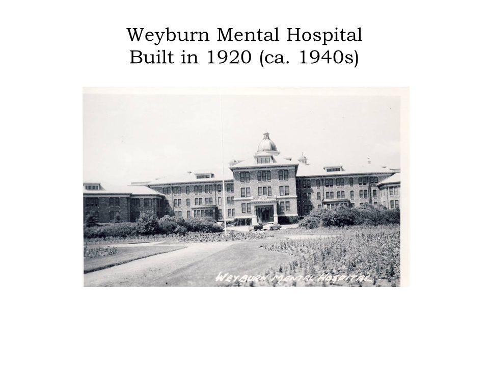Weyburn Mental Hospital Built in 1920 (ca. 1940s)