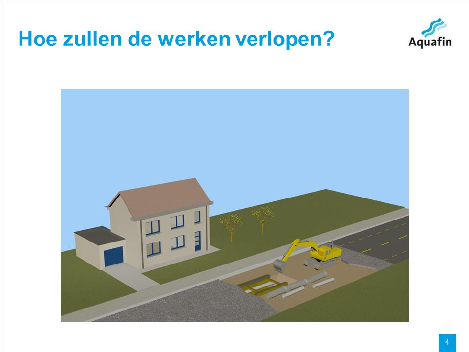 15-12-2010 Aquafin partner for all wastewater projects 5 Hoe zullen de werken verlopen?