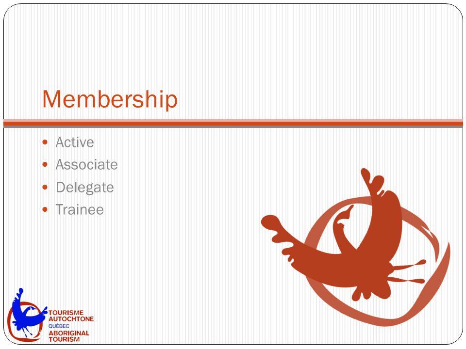 Membership Active Associate Delegate Trainee