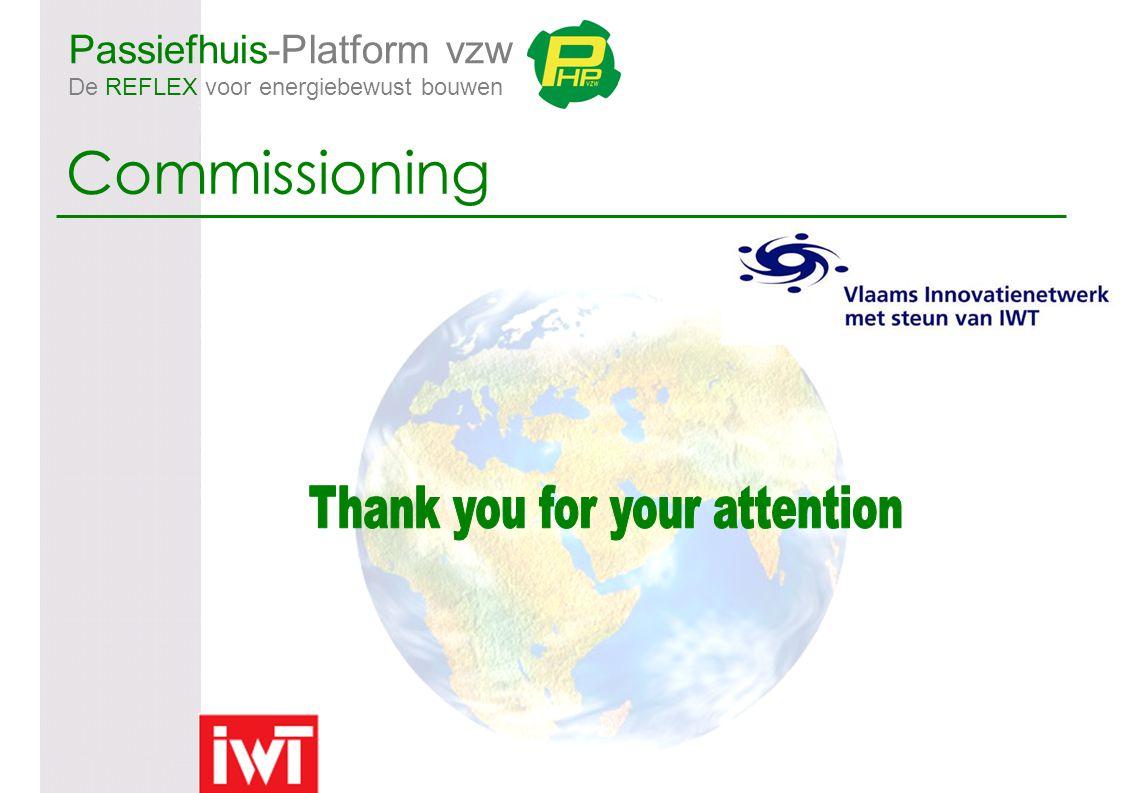 Passiefhuis-Platform vzw De REFLEX voor energiebewust bouwen Commissioning