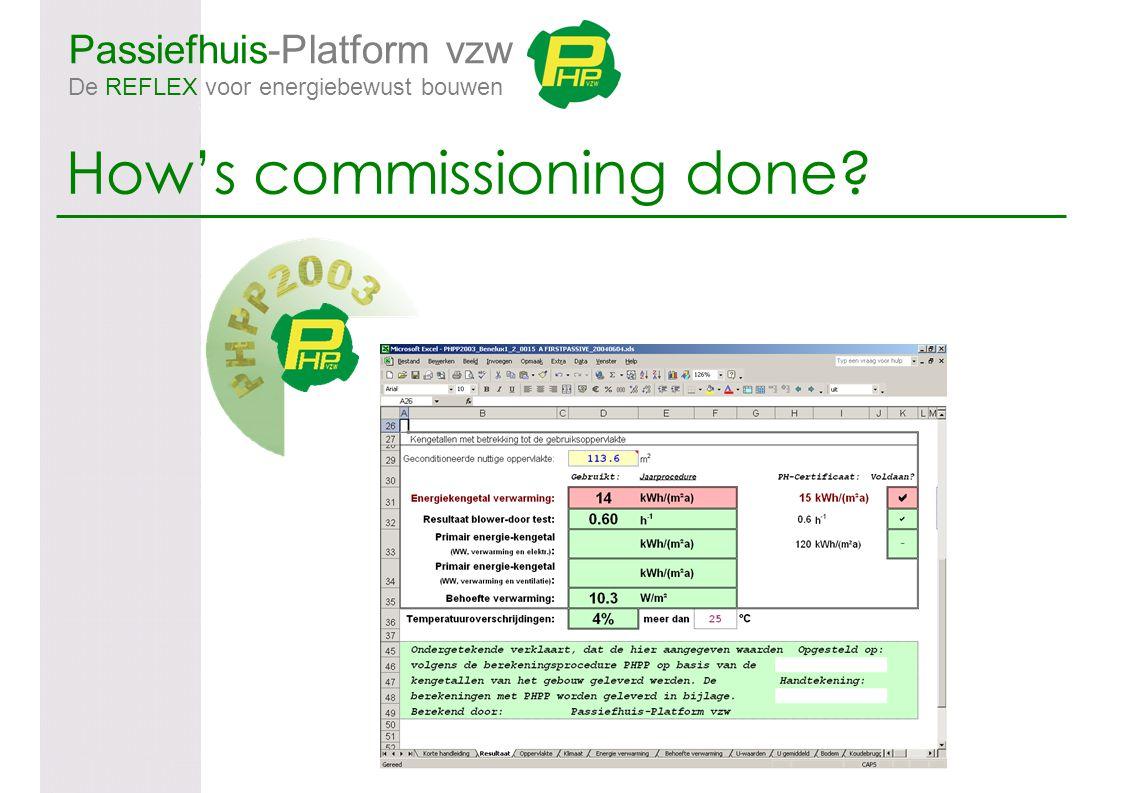 Passiefhuis-Platform vzw De REFLEX voor energiebewust bouwen How's commissioning done