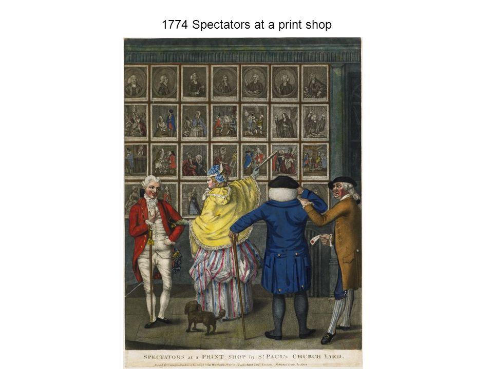 1774 Spectators at a print shop