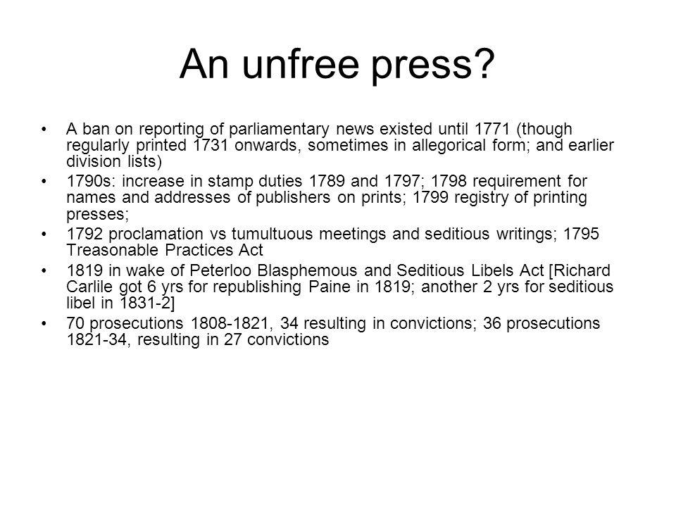 An unfree press.