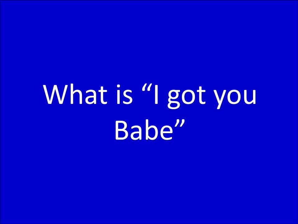 Sonny & Cher: Ich Hab Dich Babe