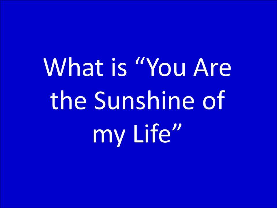 Stevie Wonder: Sie Sind Der Sonnenschein Meines Lebens