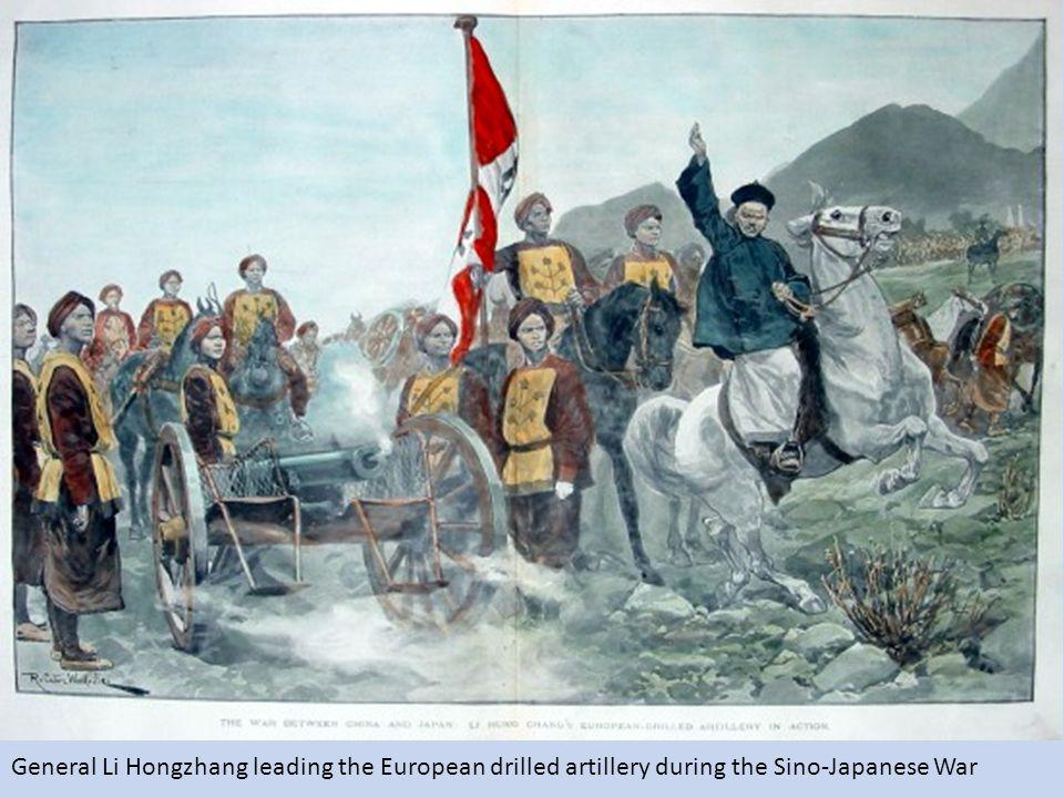 General Li Hongzhang leading the European drilled artillery during the Sino-Japanese War