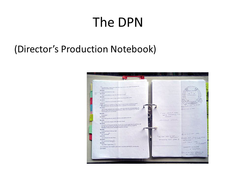 The DPN (Director's Production Notebook)