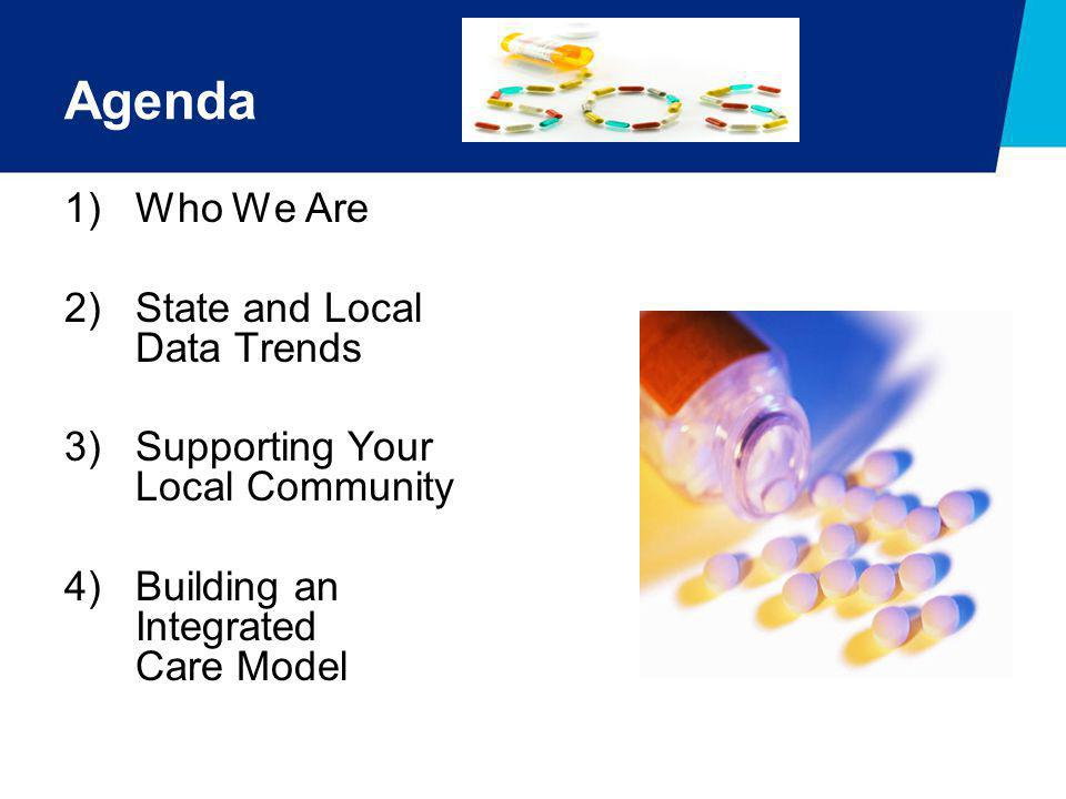 Agenda 1)Who We Are 2)State and Local Data Trends 3)Supporting Your Local Community 4)Building an Integrated Care Model