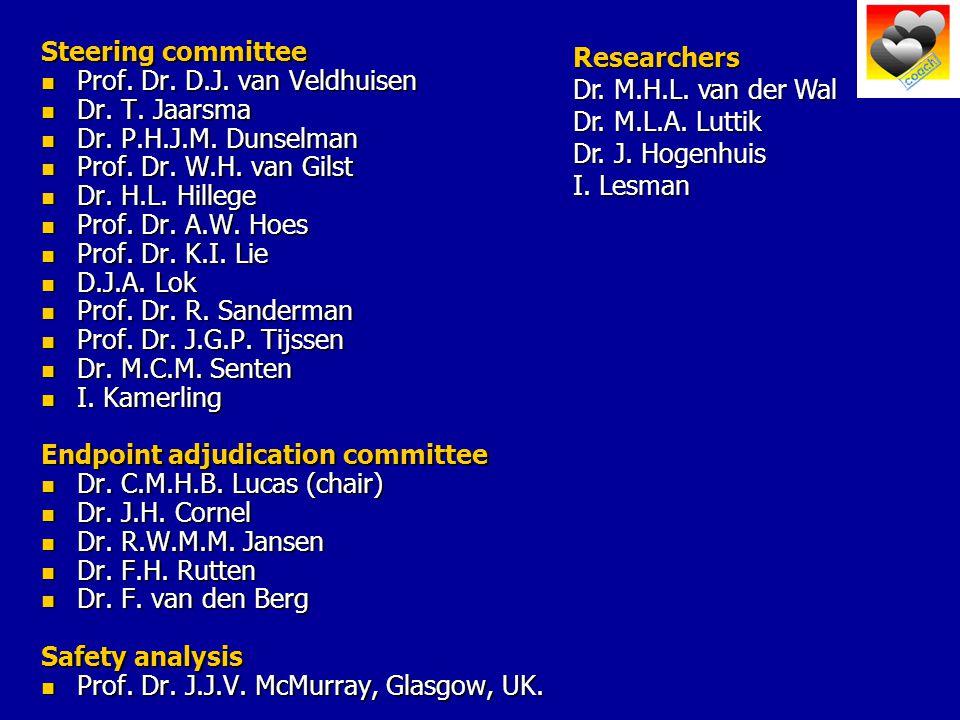 Steering committee Prof. Dr. D.J. van Veldhuisen Prof.