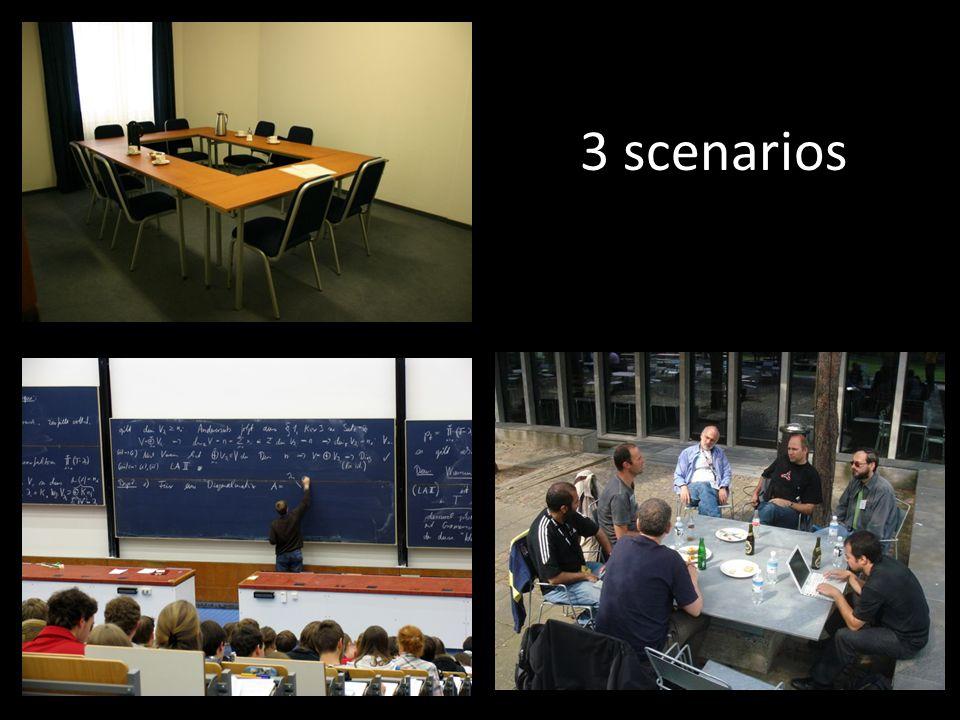3 scenarios