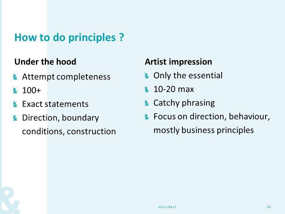 How to do principles .