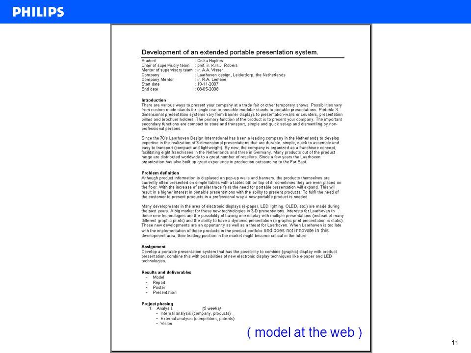prof.ir. Klaas H.J. Robers, January 16, 2013 11 ( model at the web )