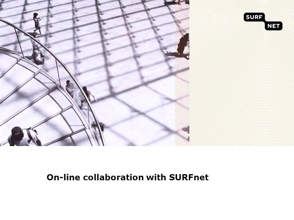 Outline SURFnet organisation Lightpaths for science Goup Communication -SURFgroepen -Videoconferencing and webconferencing