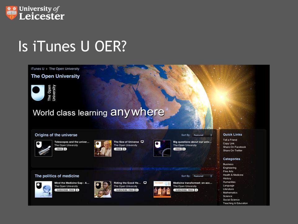 Is iTunes U OER?