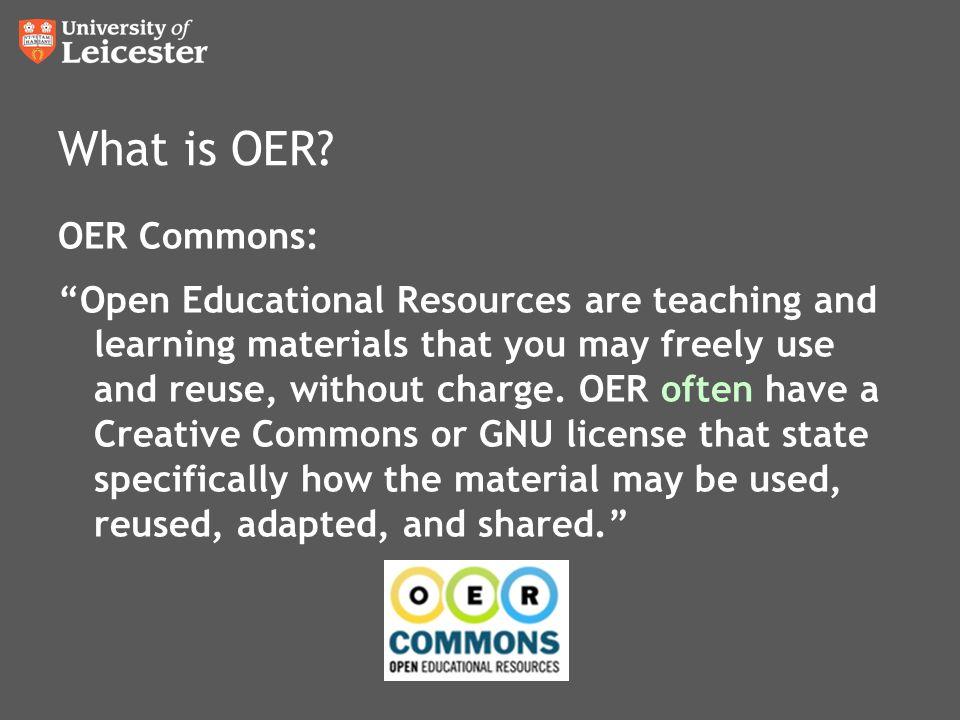 What is OER.