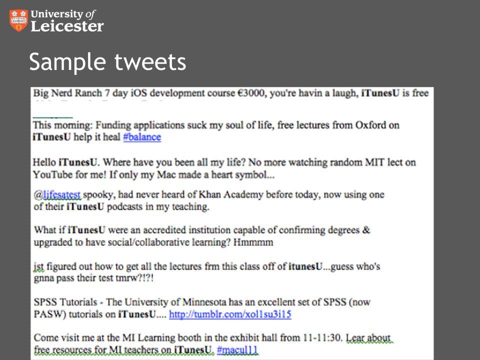Sample tweets