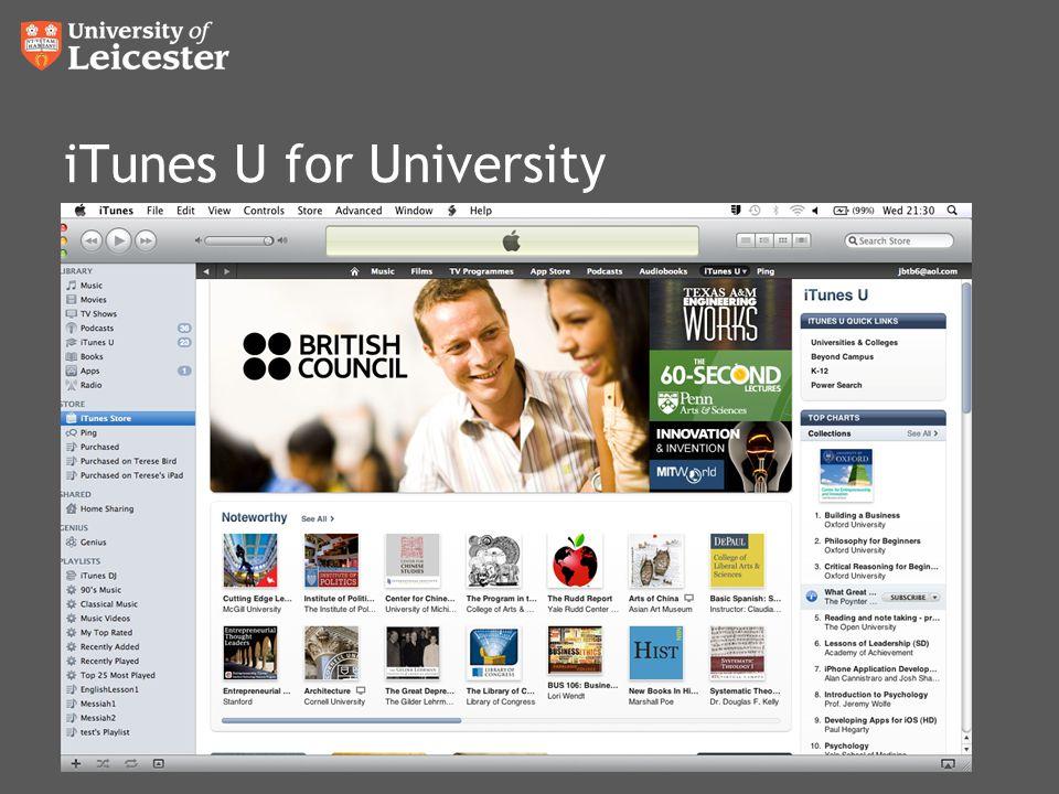 iTunes U for University
