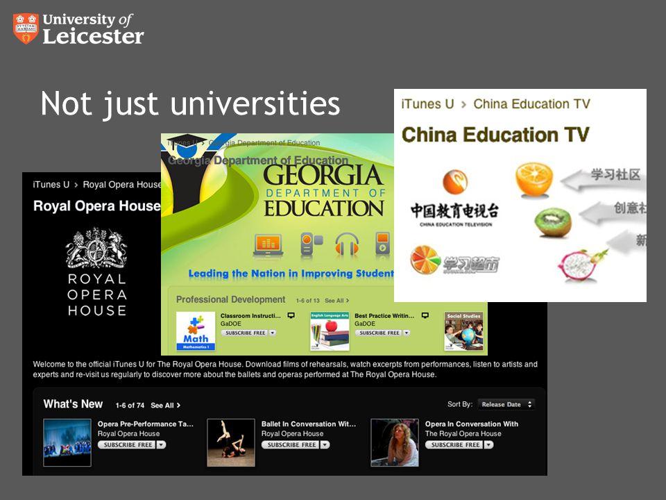 Not just universities