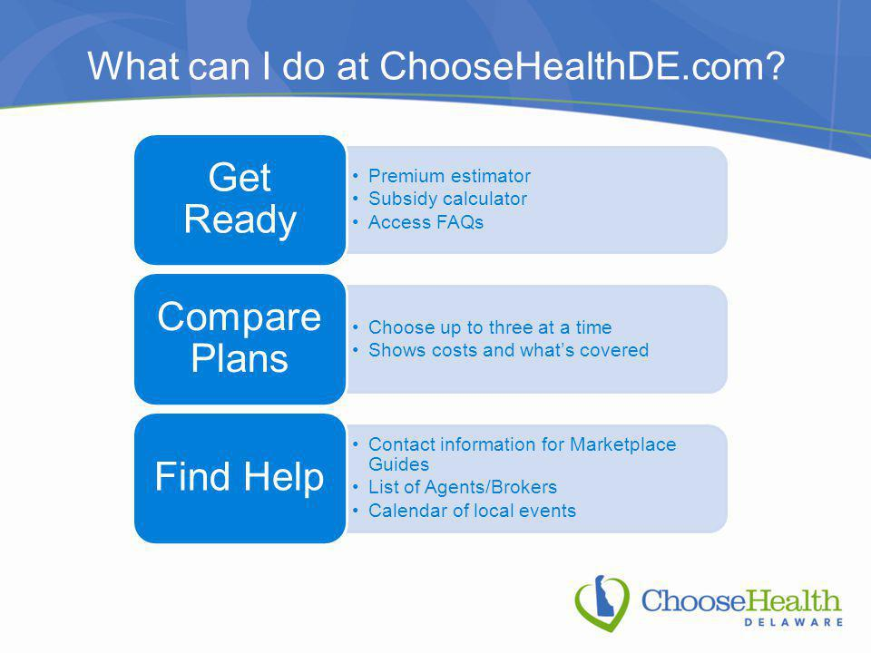 What can I do at ChooseHealthDE.com.