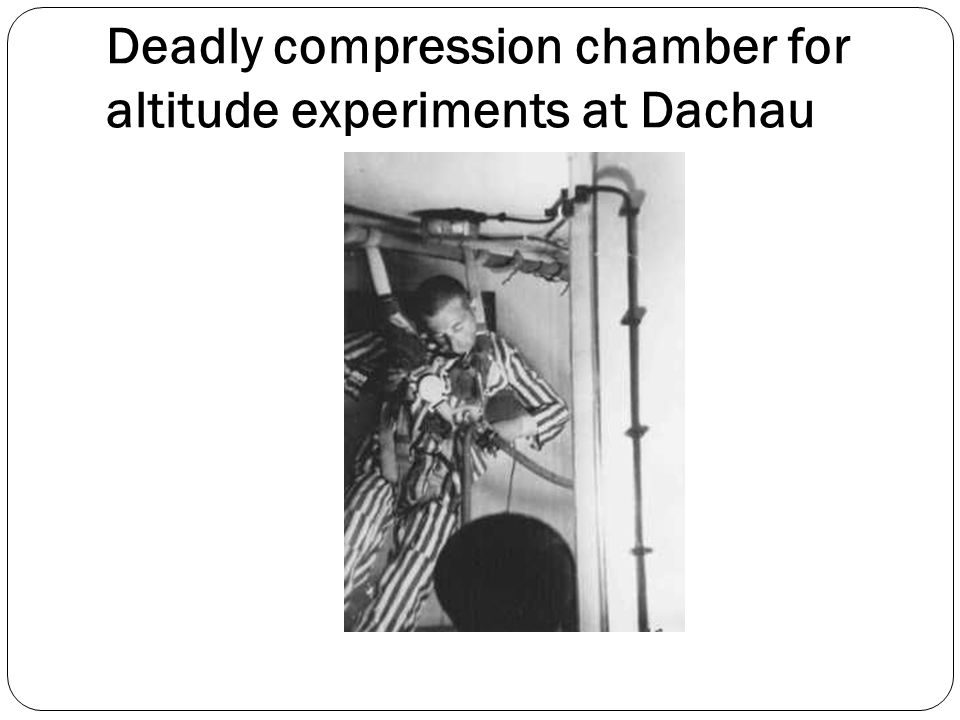 Deadly compression chamber for altitude experiments at Dachau