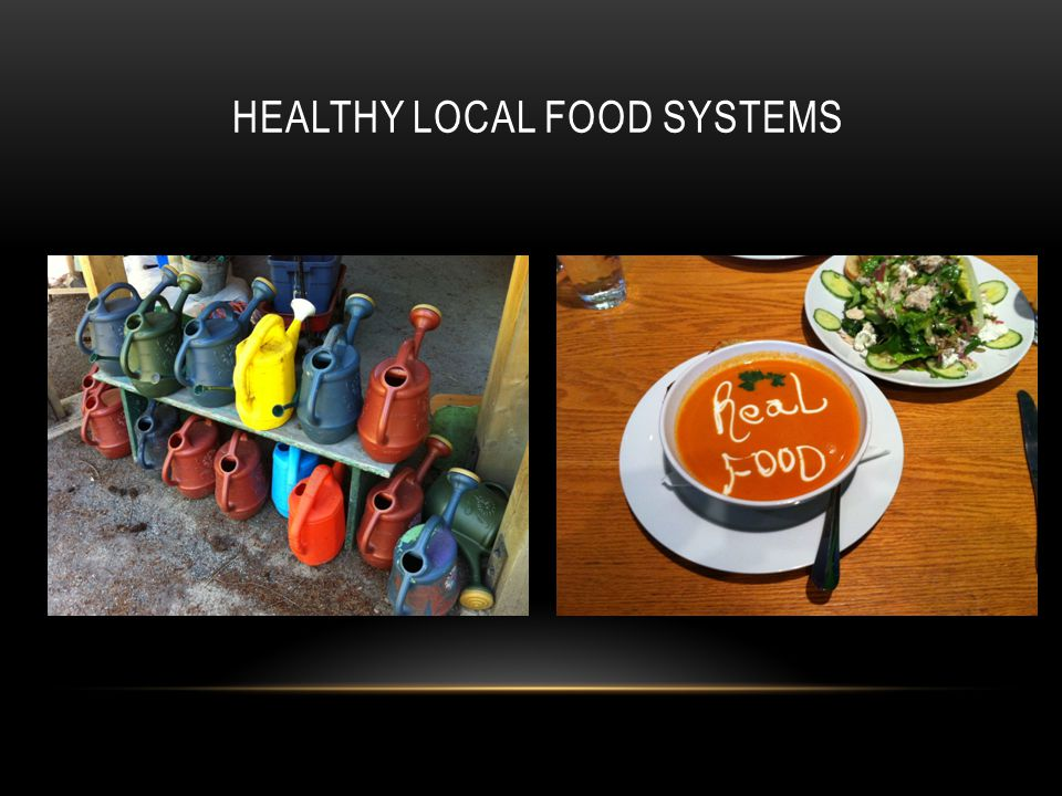 HEALTHY LOCAL FOOD SYSTEMS