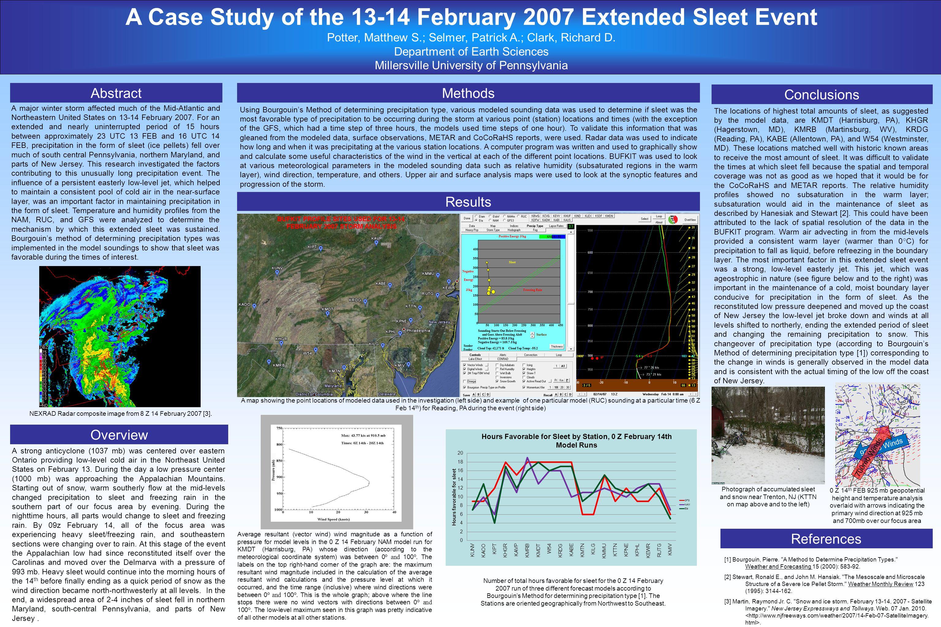 A Case Study of the 13-14 February 2007 Extended Sleet Event Potter, Matthew S.; Selmer, Patrick A.; Clark, Richard D.