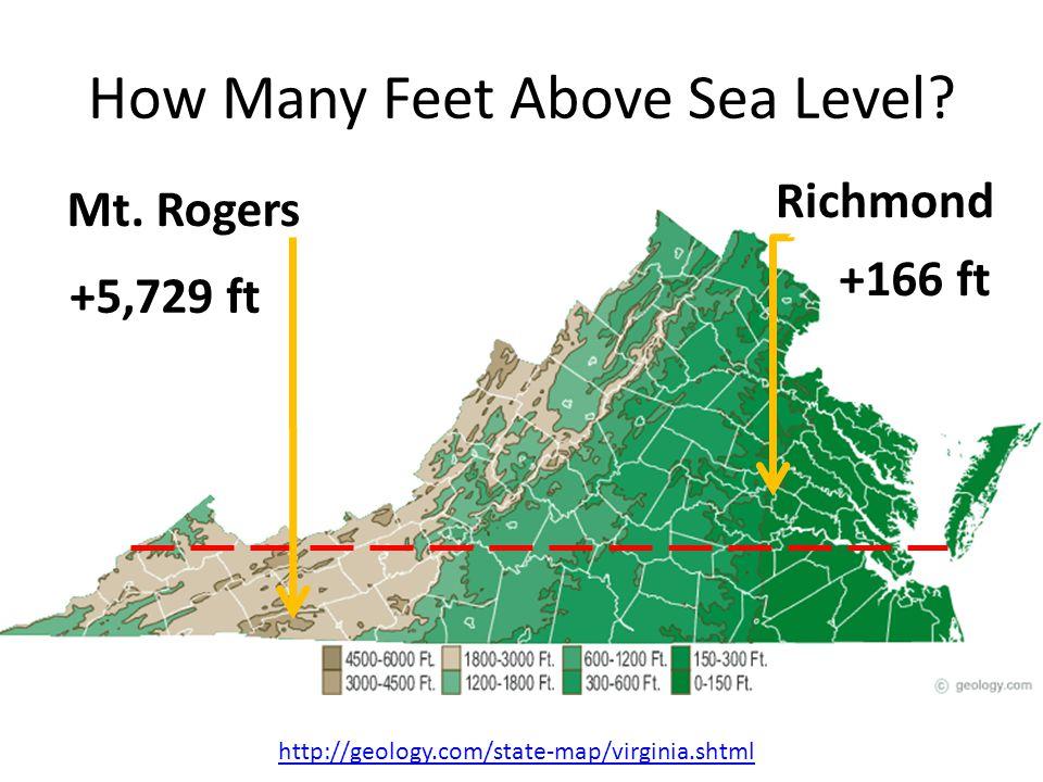 How Many Feet Above Sea Level.