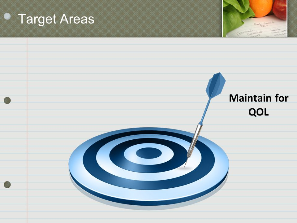 Target Areas Maintain for QOL