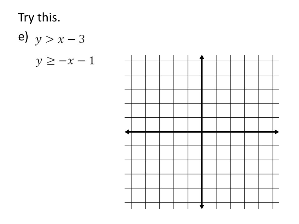 Try this. e)