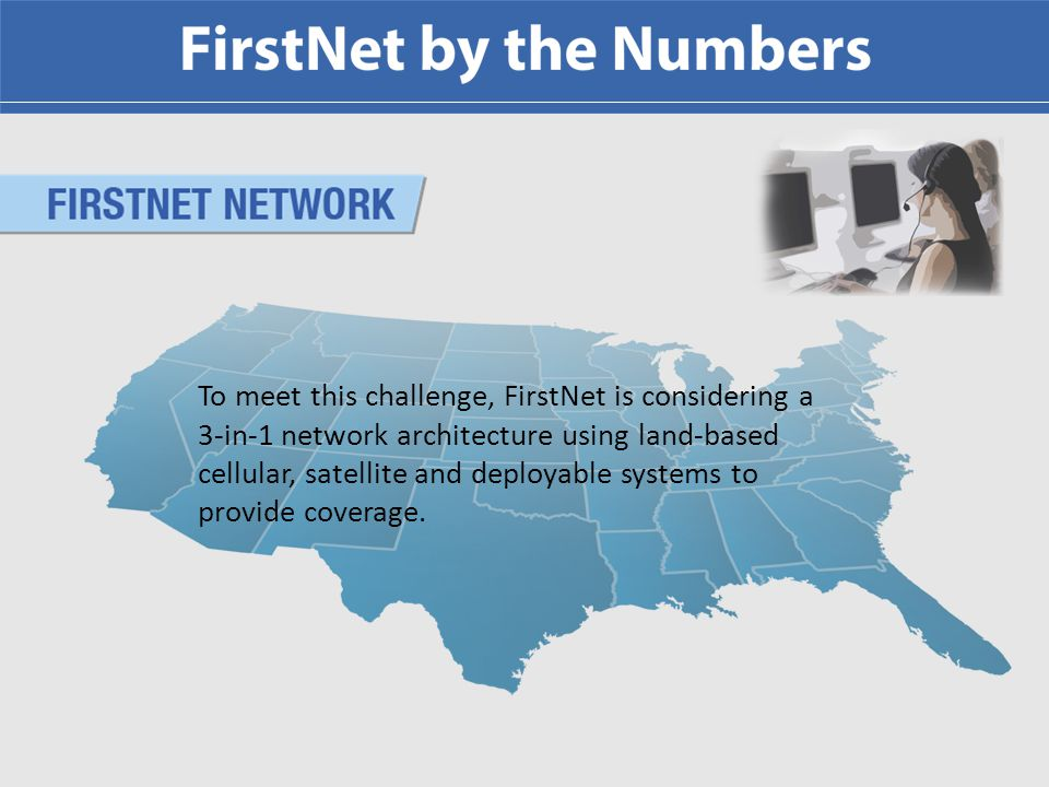 FirstNet coverage challenge: geography is divided into 5 categories.