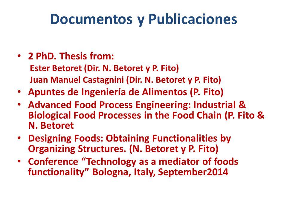 Documentos y Publicaciones 2 PhD. Thesis from: Ester Betoret (Dir.