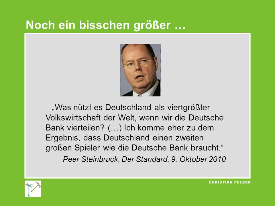 """""""Was nützt es Deutschland als viertgrößter Volkswirtschaft der Welt, wenn wir die Deutsche Bank vierteilen."""