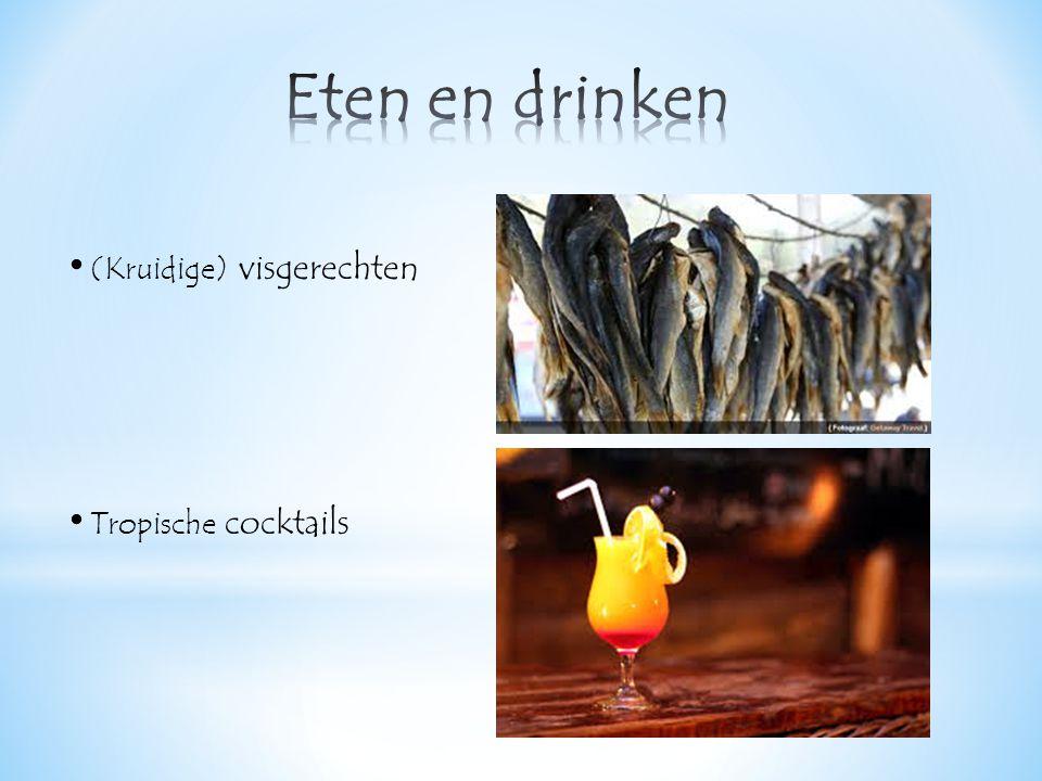 (Kruidige) visgerechten Tropische cocktails