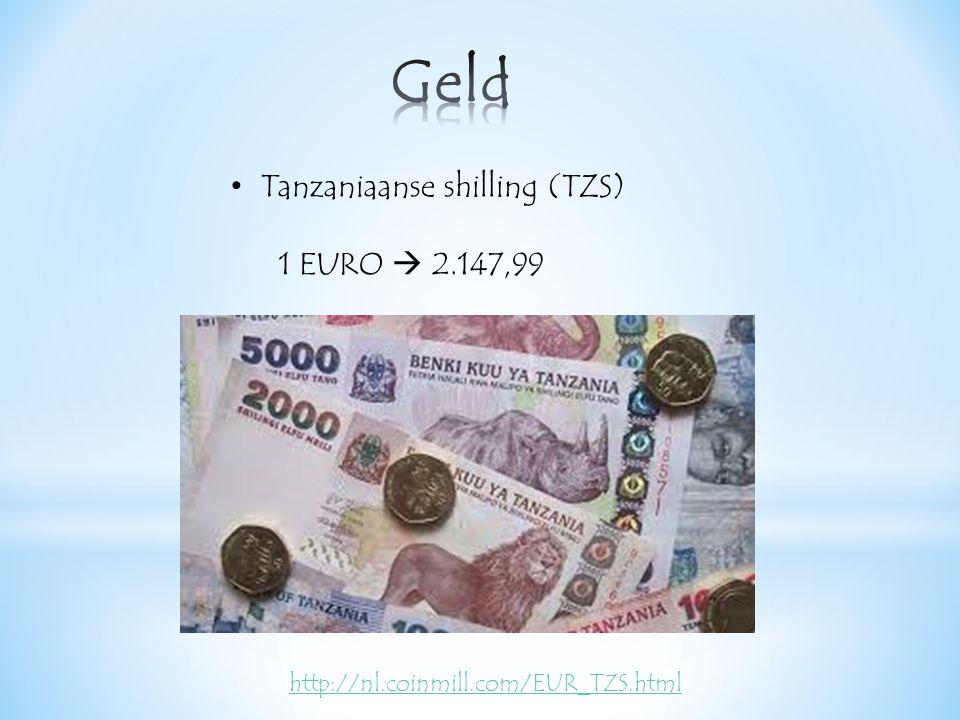 Tanzaniaanse shilling (TZS) 1 EURO  2.147,99 http://nl.coinmill.com/EUR_TZS.html