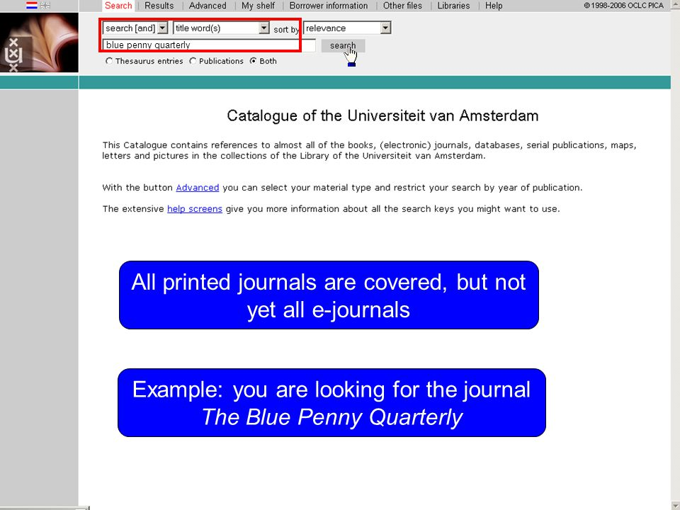 blue penny quarterly Example: you are looking for the journal The Blue Penny Quarterly All printed journals are covered, but not yet all e-journals