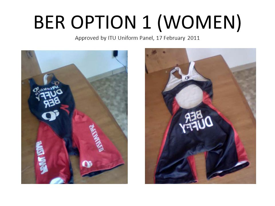 BER OPTION 1 (WOMEN) Approved by ITU Uniform Panel, 17 February 2011