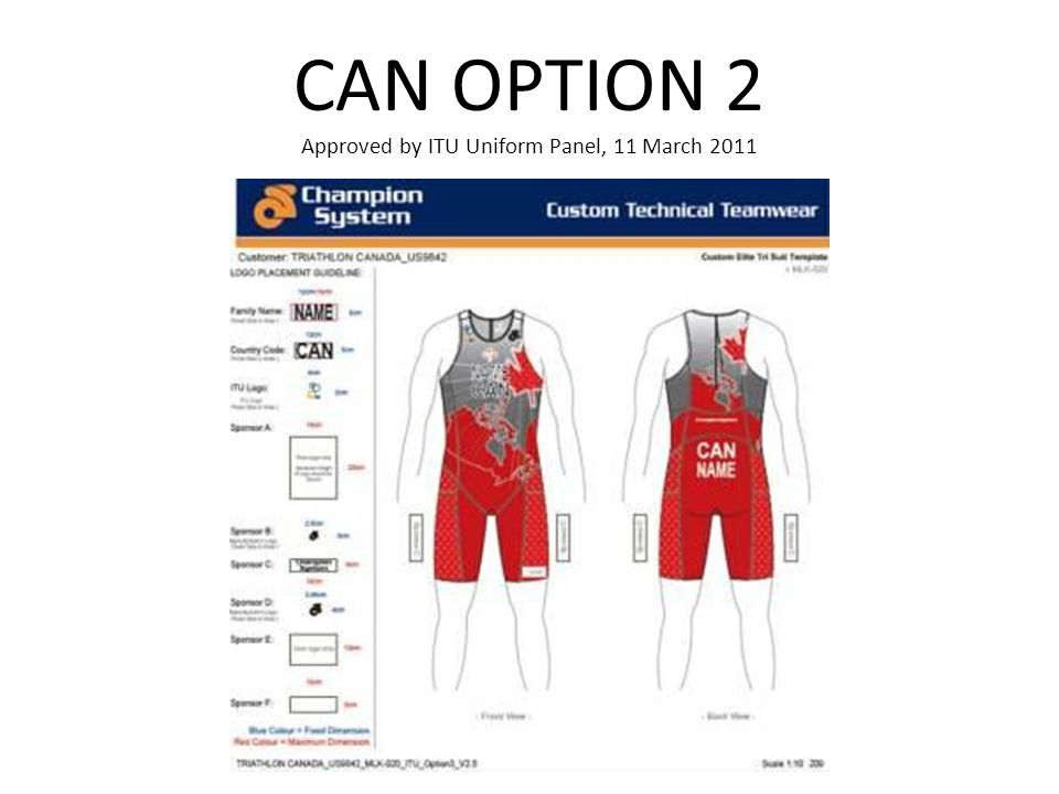 CAN OPTION 2 Approved by ITU Uniform Panel, 11 March 2011