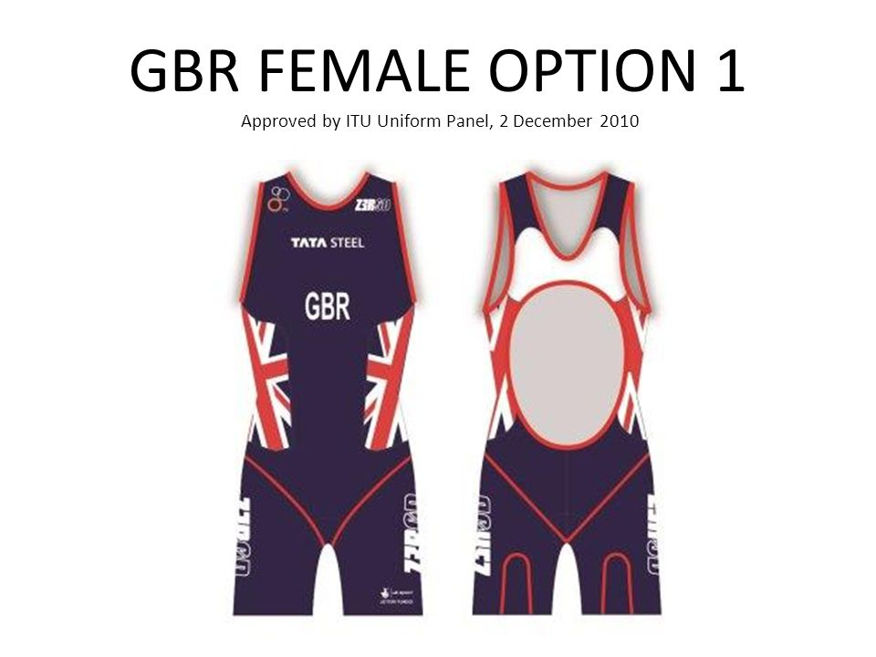 GBR FEMALE OPTION 1 Approved by ITU Uniform Panel, 2 December 2010