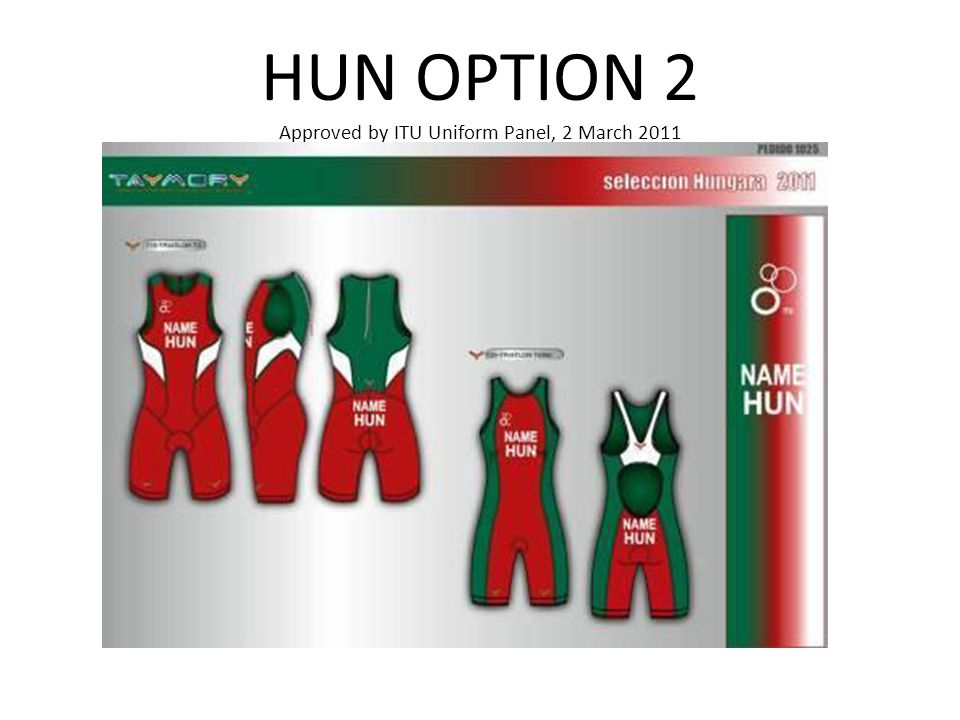 HUN OPTION 2 Approved by ITU Uniform Panel, 2 March 2011