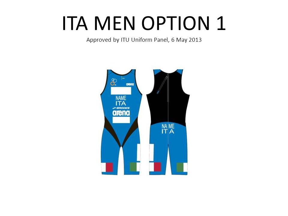 ITA MEN OPTION 1 Approved by ITU Uniform Panel, 6 May 2013