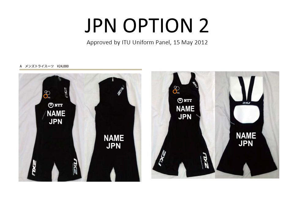 JPN OPTION 2 Approved by ITU Uniform Panel, 15 May 2012