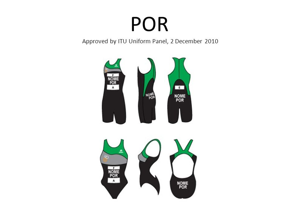 POR Approved by ITU Uniform Panel, 2 December 2010